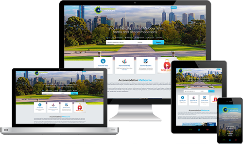 Accommodation Melbourne displayed beautifully on multiple devices