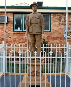 Soldier Statue Memorial Chinchilla - Accommodation Melbourne