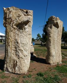 Fossilised Forrest Sculptures - Accommodation Melbourne
