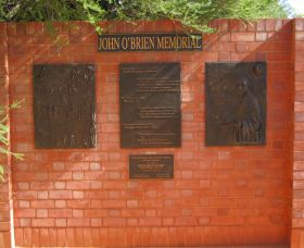 John OBrien Commemorative Wall - Accommodation Melbourne
