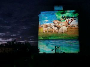 Quorn Silo Light Show - Accommodation Melbourne