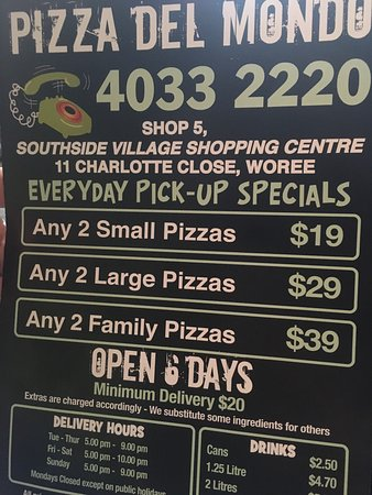 Pizza Del Mondo Cairns - Accommodation Melbourne